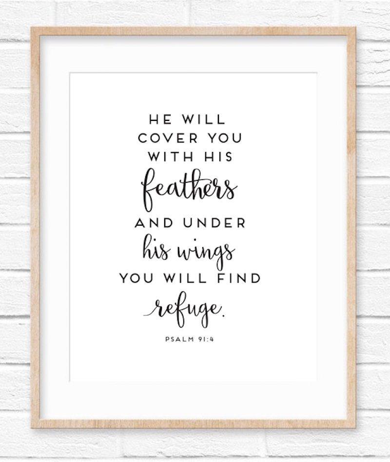 Psalm 91:4   Free Printable