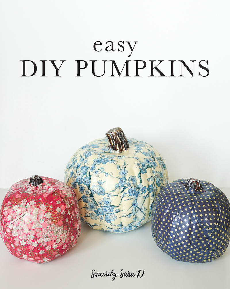 Easy DIY Pumpkin Craft