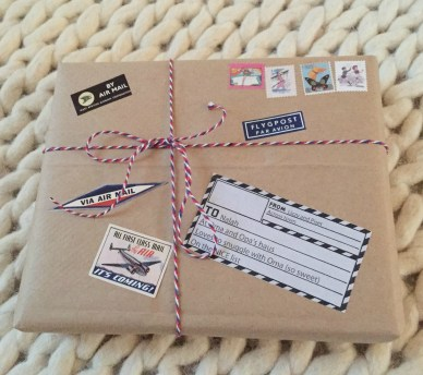 Airmail gift wrap