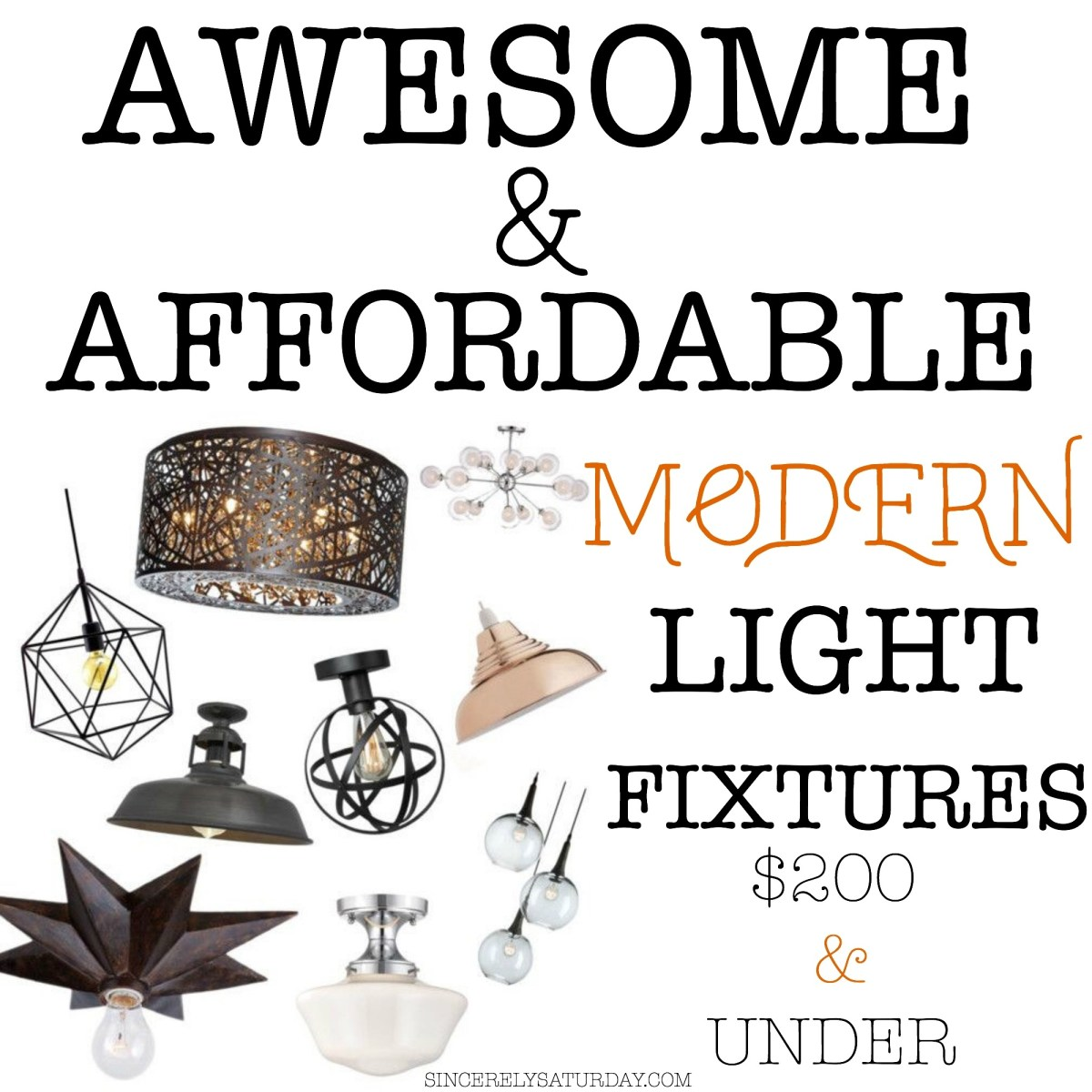 LIGHT FIXTURES - MODERN, AWESOME AND AFFORDABLE