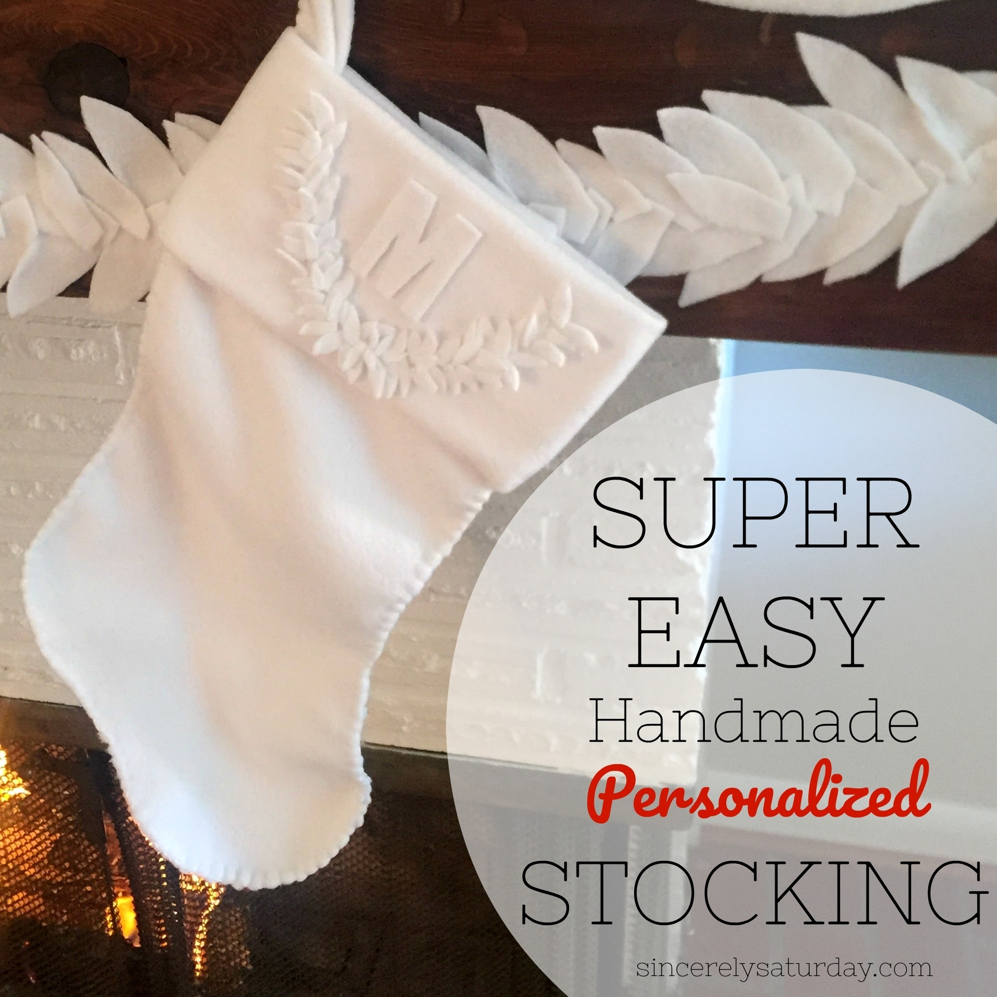 Super easy handmade personalized stocking