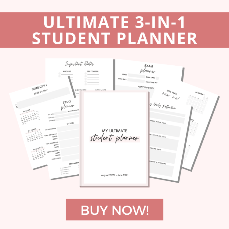 ultimate 3-in-1 student planner