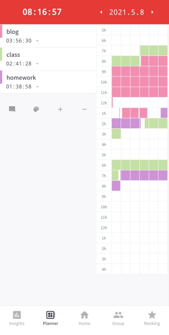 Time tracker app to stay productive