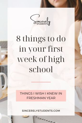 8 important things to do in your first week of high school