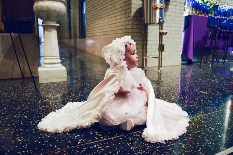 baby girl handmade baptism cape ruffles