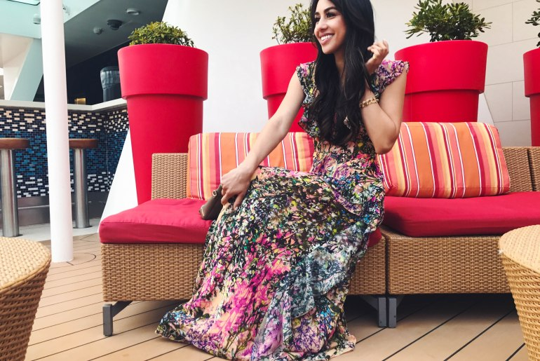Multicolored-Patterned-Dress-Full-Length-Maxi-Ruffles-Blogger