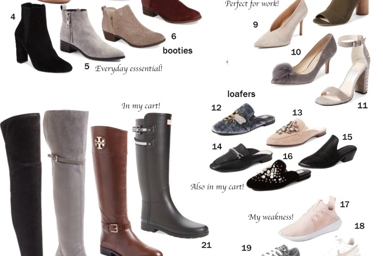 fall shoe compilation nordstrom anniversary sale 2017
