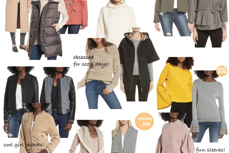 nordstrom anniversary sale sweater and jacket picks 2017