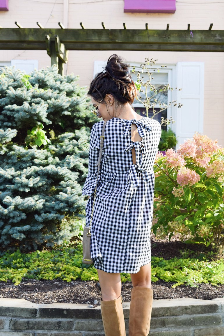 Sincerely-Styled-Brittany-Seiden-shein-gal-blogger-gingham-open-back-bow-tie