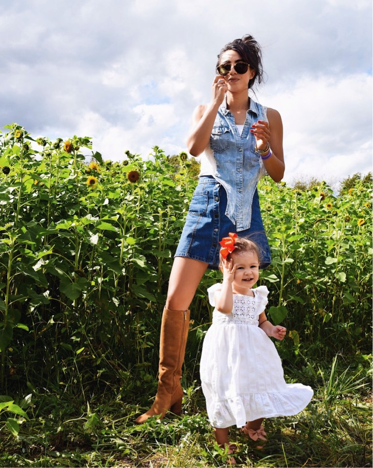 mother daughter blogger nordstrom fall sale tall boots sam edelman knee high brittany seiden sincerely styled