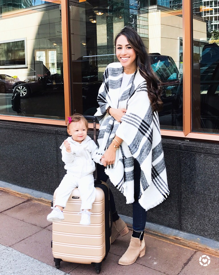 plaid BP poncho nordstrom sincerely styled brittany seiden mommy and me blogger mom
