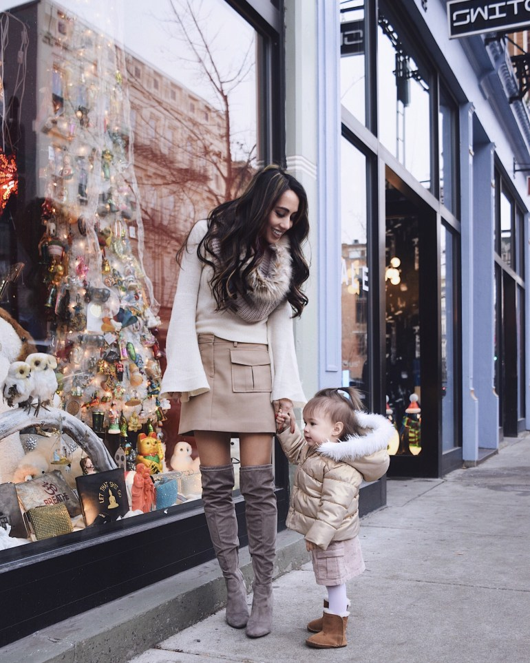 sincerely-styled-brittany-seiden-cargo-skirt-otk-boots-matching-baby