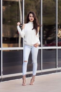 Cold Shoulder Top x Rosie Heels