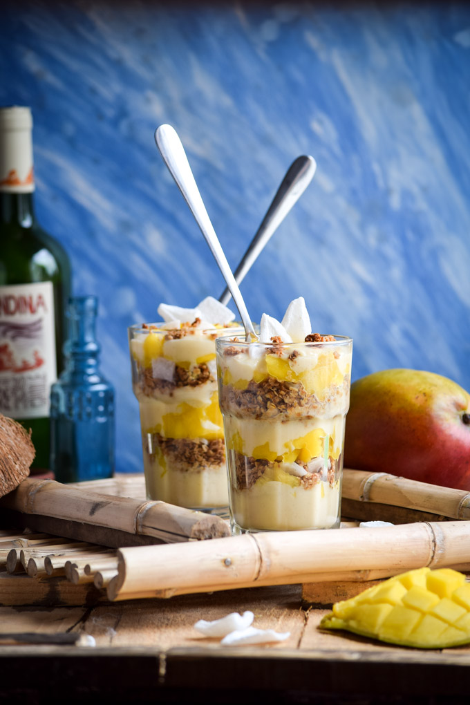 Mango & Young Dried Coconut Granola Breakfast Parfaits (Vegan) (12)