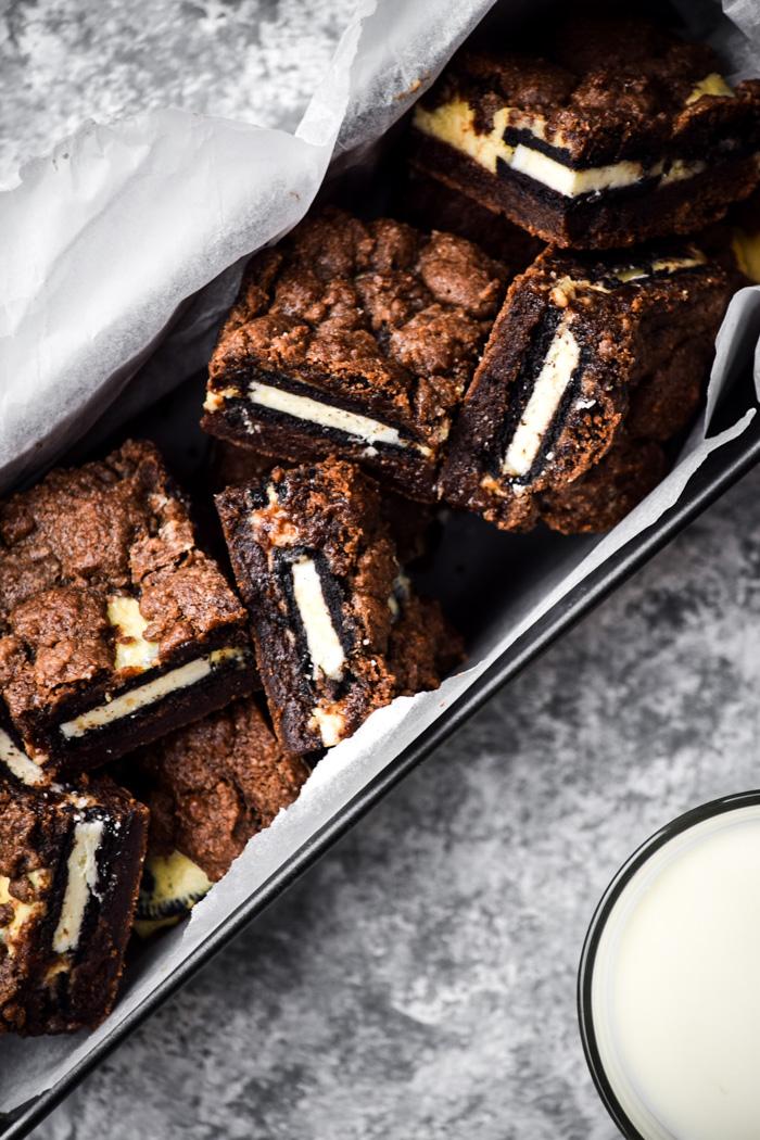 cookies and cream brownies vegan