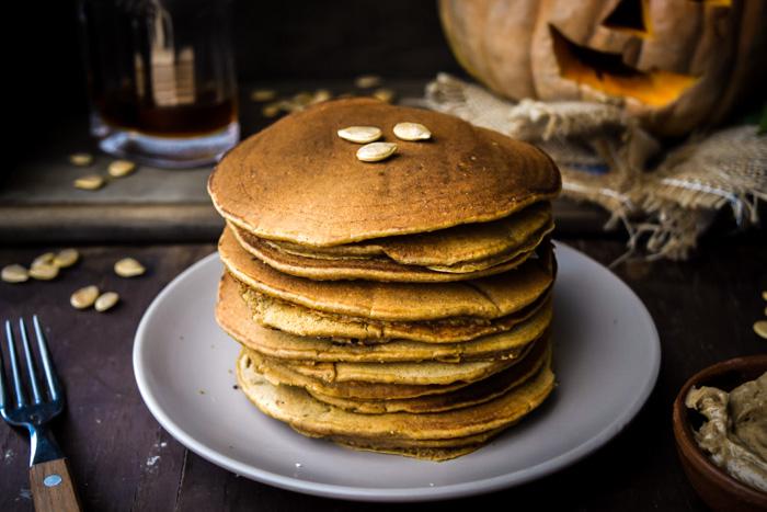 gluten free vegan best pumpkin pancakes