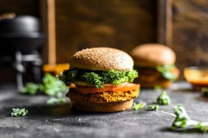 Simple Sweet Potato Veggie Burgers-1