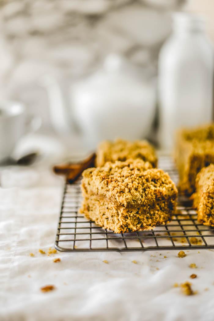 gluten free cinnamon crumb cake recipe