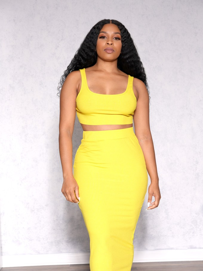 Eva Two Piece Skirt Set-Yellow 5