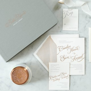 Copper Wedding Invitation
