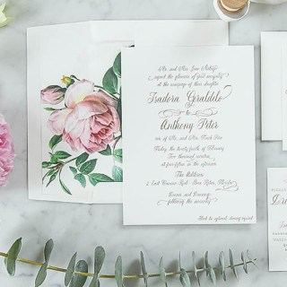 Peony Wedding Invitation