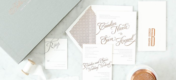 Copper Wedding Invitation Slider
