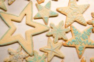 christmas cookies - snowflakes & stars