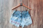 Denim High Waisted Anchor Nautical Shorts Daze & Amaze