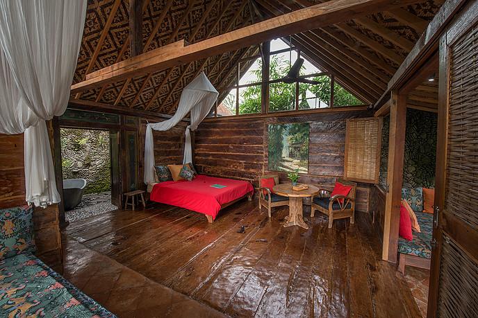 yoga retreat bali room