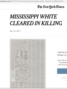 Mississippi white cleared in killing