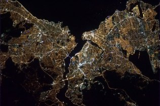 Istanbul, Turkey at night. Photo shared by Col. Chris Hadfield.