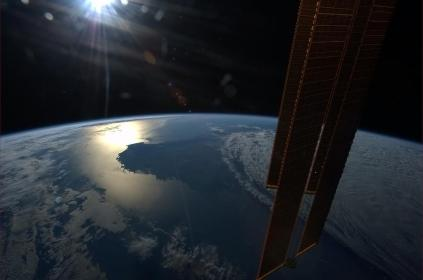 The sun setting over Western Australia. Photo shared by Col. Chris Hadfield.