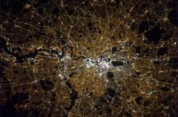 London, England all lit up at night. Photo shared by Col. Chris Hadfield.