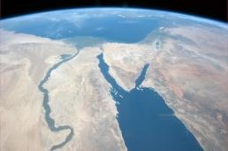 From the Nile and the Sinai to Israel. Photo shared by Col. Chris Hadfield.