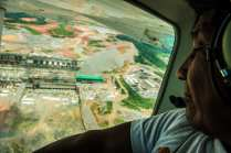 """Munduruku chiefs Arnaldo Kaba and Juarez Saw made a flight over the Belo Monte Dam on the Xingu River. """"We started our resistance against what we do not want: Belo Monte has caused so much destruction, it's yet another reminder that we need to continue this struggle."""""""