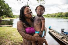 """The Tapajós river is unique and it's sacred. The Munduruku are a single people who collectively respect the river and the forrest"""" says Maria Leusa Munduruku. The communities have relied on the river for so many centures, it's impossible to imagine the river and land to change it's course, they believe it was created by a devine entity called Karosakaybu."""