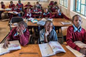 Children in class get education which is pretty much the same as other schools around the country. The aim is to make sure these children are educated so they might have an equal opportunity later in life.