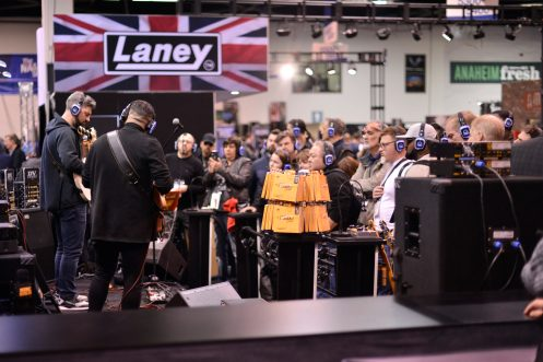 ANAHEIM, CALIFORNIA - JANUARY 16: Guests attend a performance at The 2020 NAMM Show Opening Day on January 16, 2020 in Anaheim, California. (Photo by Jerod Harris/Getty Images for NAMM)