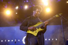 ANAHEIM, CALIFORNIA - JANUARY 16: Tosin Abasi of Animals as Leaders performs at The 2020 NAMM Show Opening Day on January 16, 2020 in Anaheim, California. (Photo by Jesse Grant/Getty Images for NAMM)