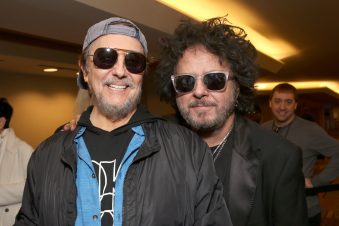 ANAHEIM, CALIFORNIA - JANUARY 18: Jim Keltner and Steve Lukather attend The 2020 NAMM Show on January 18, 2020 in Anaheim, California. (Photo by Jesse Grant/Getty Images for NAMM)
