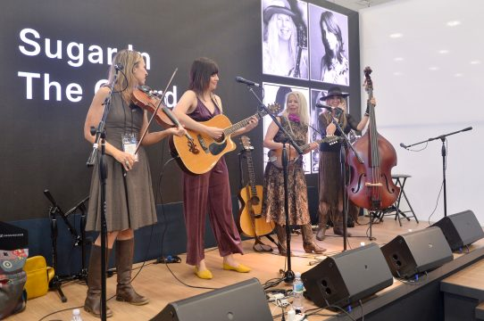 ANAHEIM, CALIFORNIA - JANUARY 18: Sugar in the Gourd performs at The 2020 NAMM Show on January 18, 2020 in Anaheim, California. (Photo by Jerod Harris/Getty Images for NAMM)