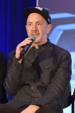 ANAHEIM, CALIFORNIA - JANUARY 18: Sam Hollander speaks onstage at The 2020 NAMM Show on January 18, 2020 in Anaheim, California. (Photo by Jerod Harris/Getty Images for NAMM)