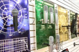 ANAHEIM, CALIFORNIA - JANUARY 19: Microphones on display at The 2020 NAMM Show on January 19, 2020 in Anaheim, California. (Photo by Jesse Grant/Getty Images for NAMM)