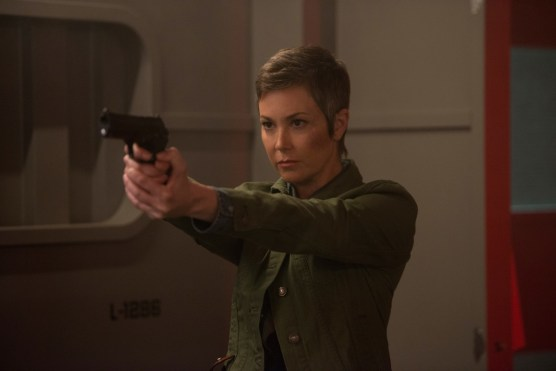 """Supernatural --""""Who We Are"""" -- SN1222b_0244.jpg -- Pictured: Kim Rhodes as Jody Mills -- Photo: Diyah Pera/The CW -- © 2017 The CW Network, LLC. All Rights Reserved"""