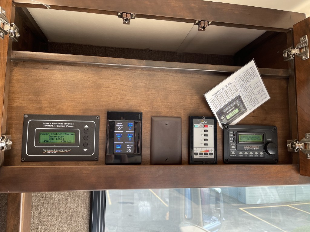 Power management and awning controls