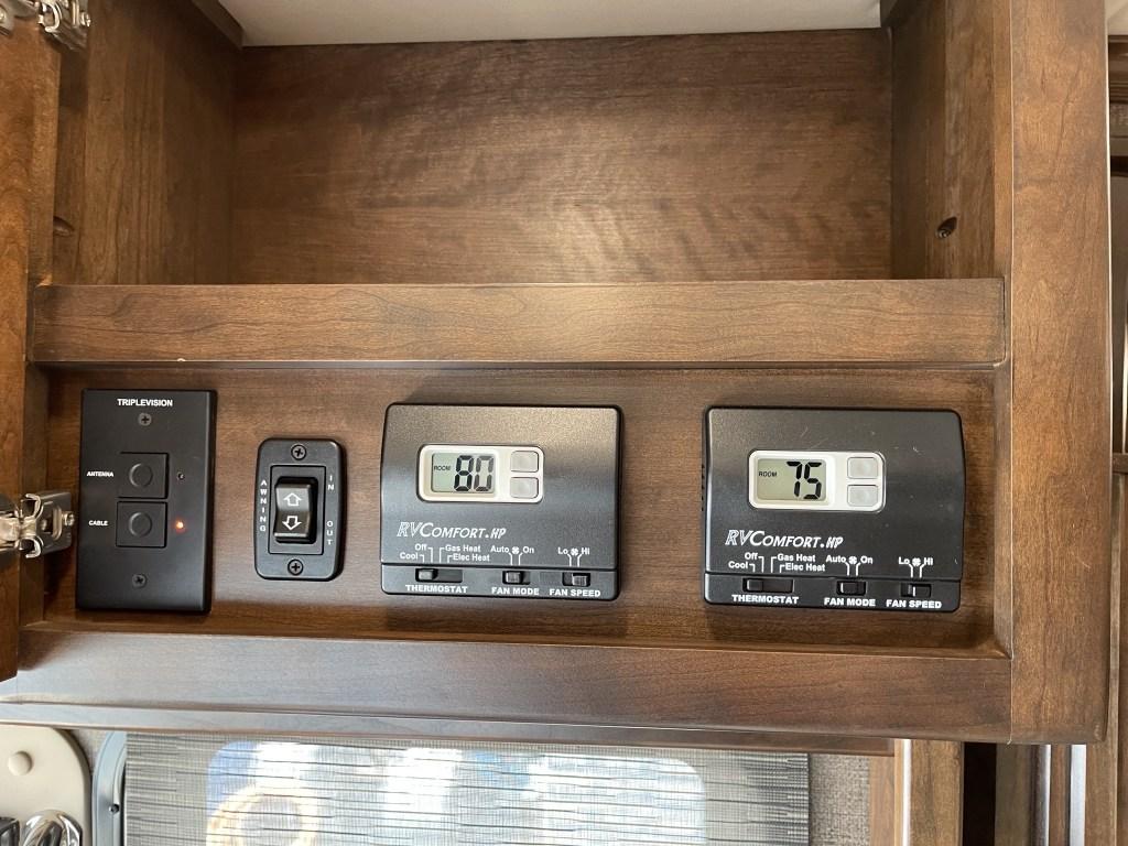 Antenna, door awning, thermostats