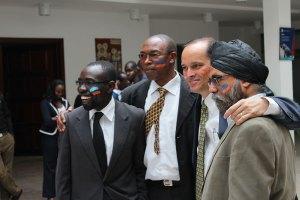 Figueroa con sus socios. Desde la izq: Tim Kipchumba, Dominic Chesire y Amarjit Virdi. No aparece en la foto Nephat Njeng'wa.
