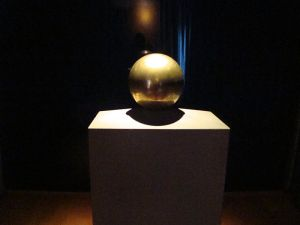 Tesla's ashes contained in a sphere, his favourite shape