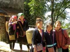 Terrazas de arroz de Sapa - Chicas Minoría Hmong