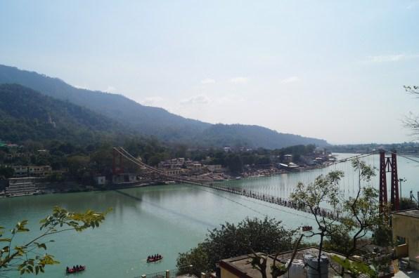 Rishikesh Vistas desde Tapovan - Viaje a Rishikesh: historia, dónde hospedarse y qué ver